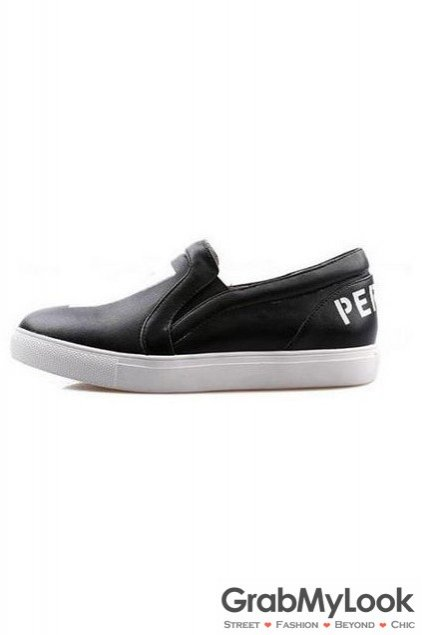 Black Leather 17 Pervert Loafers Flats Sneakers Shoes Womens