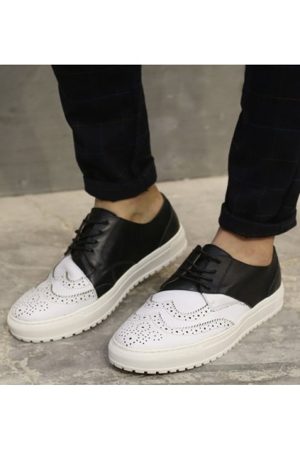 Black White Baroque Old School Platforms Vintage Oxford Sneakers Loafers Shoes