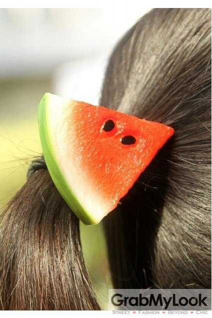 Slice Watermelon Fruit Rubber Hair Band