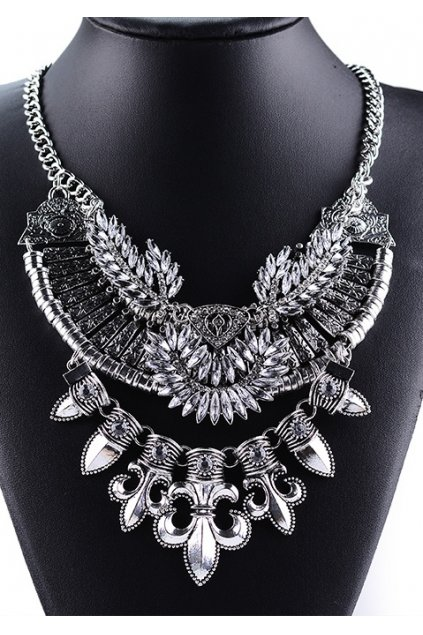 Giant Silver Mideval Pointy Bohemia Vintage Chain Punk Rock Necklace Tribal Exotic