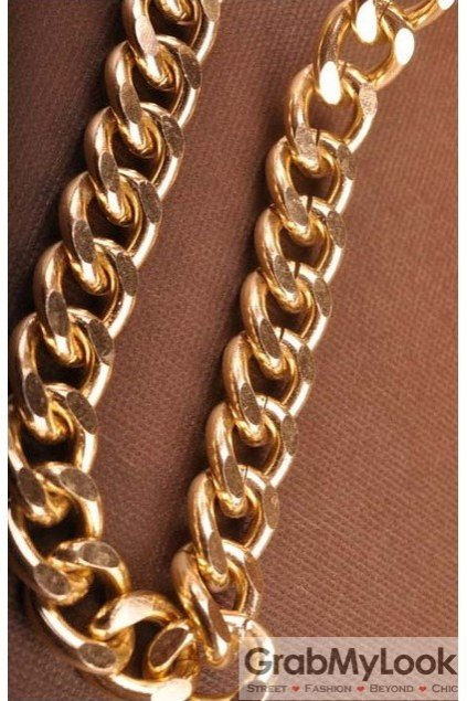 Thick Gold Long Chain Punk Rock Boss Necklace