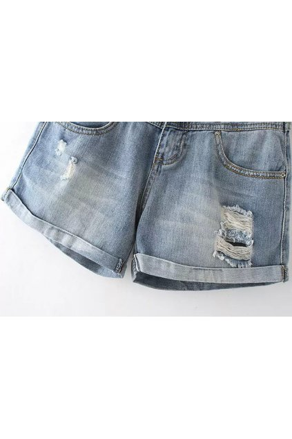 GrabMyLook Denim Ripped Blue Jeans Shorts