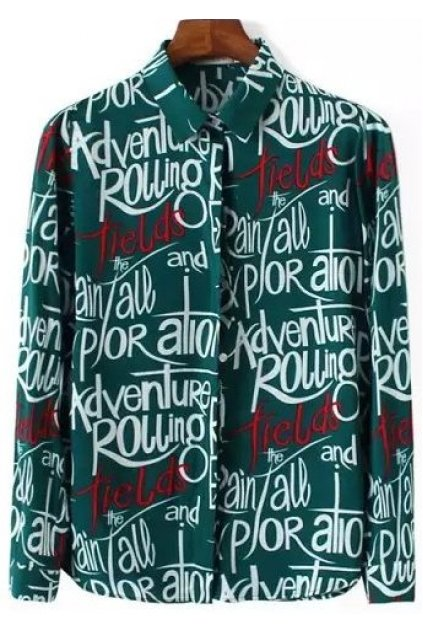 Adventure Rolling Stones Graffiti Long Sleeves Shirt Blouse