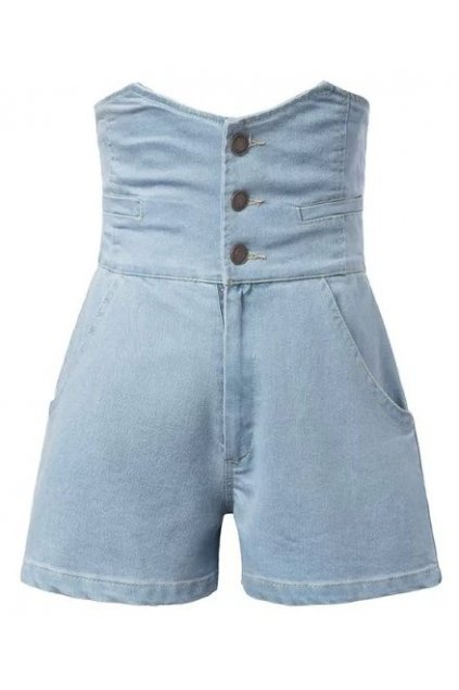 Denim Blue Jeans High Waist Vintage Shorts