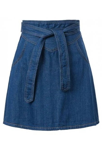 Denim Blue Jeans High Waist A Line Mini Skirt Dress