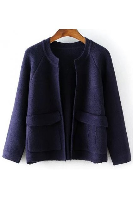 Knit Casual 3/4 Sleeves Blouse Jacket Cardigan