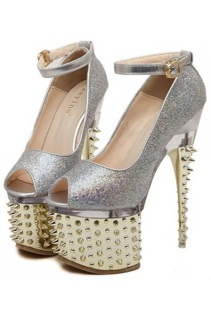 Silver And Gold Heels