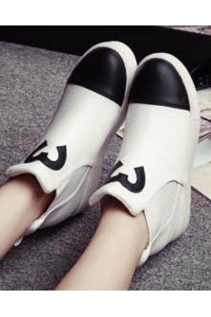 White Heart Platforms Hidden Wedges Punk Rock High Top Ankle Sneakers Shoes Boots