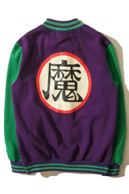 Purple Green Dragon Ball Piccolo Mens Long Sleeves Baseball