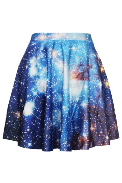 ​Blue Galaxy Universe Stars Skater A Line Dress Mini Skirt