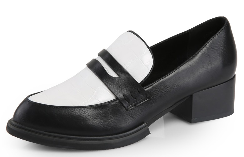 6ffae87395fa Black White Old School Vintage Oxfords Loafers Flats Dress Shoes