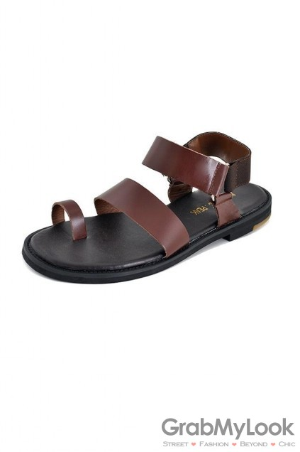 6367932bf185 ... Corner Shoes Sandals Leather Straps Mens Roman Gladiator Sandals Shoes.  65 of 97. Save 11%