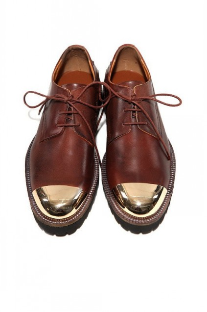 32934eb86bc Metal Cap Leather Mens Lace Up Oxfords Shoes