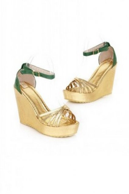 5fc205cb9a1 Gold Wedges Suede Straps Gladiator Platforms High Heels Sandals Shoes