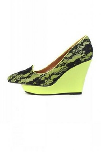 e4b8af0324fe Lace Outer Sexy Wedges Gothic Point Head Weird Platforms High Heels Shoes