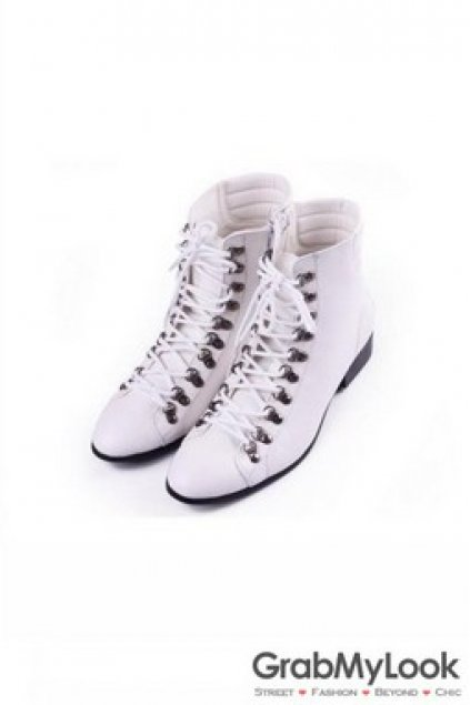 White Mens High Top Bowling Boots Shoes