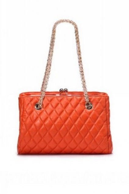 Bags Handbags Quilted Faux Leather Metal Long Chain Oversized