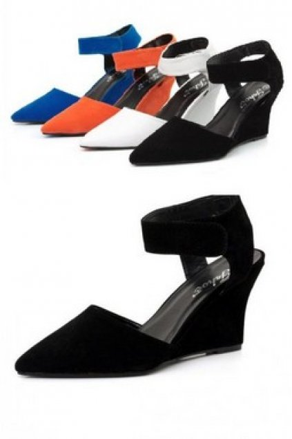 63a678c56983 Shoes    Wedges    Faux Leather Ankle Strap Wedges Platforms High Heels  Shoes