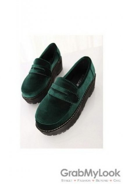 d3c912e538bc Shoes    Creepers    Velvet Old School Oxfords Creepers Shoes Platforms  Shoes
