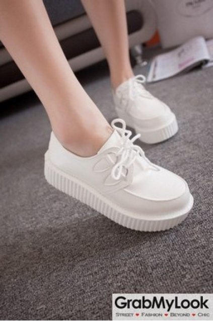 School Lace Up Oxfords Flats Creepers Shoes