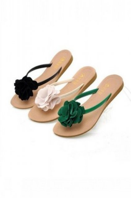 6cfe4bd74 Home Shoes Sandals Giant Suede Flowers Flats Flip Flops Beach Sandals. 68  of 214. Save 50%