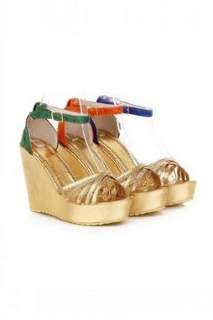 f2077fe049a Shoes    Sandals    Gold Wedges Suede Straps Gladiator Platforms High Heels  Sandals Shoes