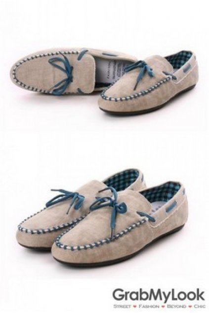Canvas Mens Casual Loafers Shoes