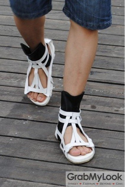 ce3bdfb69350 ... Corner Shoes Sandals Leather Straps Boots Ankle Mens Roman Gladiator Sandals  Shoes. 61 of 97. Save 20%